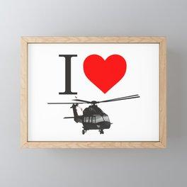 I Love Helicopters Framed Mini Art Print