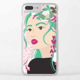 Floral & Feminine - Determined Clear iPhone Case