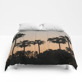 Palm Trees and Sunsets Comforters