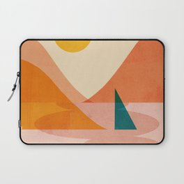 Abstraction_Lake_Sunset Laptop Sleeve