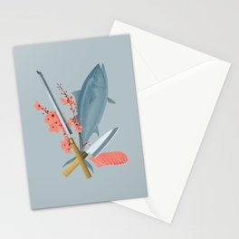 sushi chef Stationery Cards