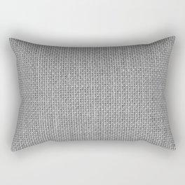 Natural Woven Silver Grey Burlap Sack Cloth Rectangular Pillow