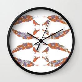 Feather & Bird - Gypsy Floral Wall Clock