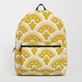 Fan Pattern Mustard Yellow 201 Backpack