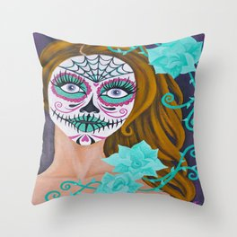 """Forget Me Not"" Throw Pillow"