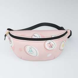 Easter doodle fancy eggs Fanny Pack