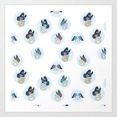 Hampster Butterflies Art Print