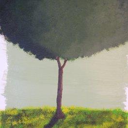 Notebook - Green Tree - Peonies and Steel Art