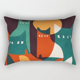 Cat Family Rectangular Pillow