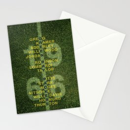 The Names of the 1966 Packers Stationery Cards