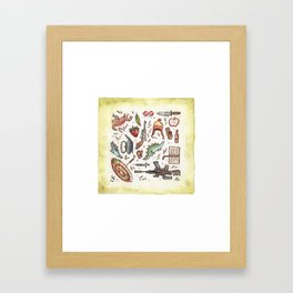 Collection of Shiny Objects Framed Art Print