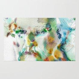 MARK TWAIN - watercolor portrait Rug