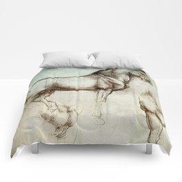 """Leonardo da Vinci """"Gran Cavallo"""" Comforters"""