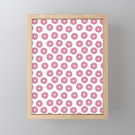 DONUTS JUNK FOOD PATTERN Framed Mini Art Print