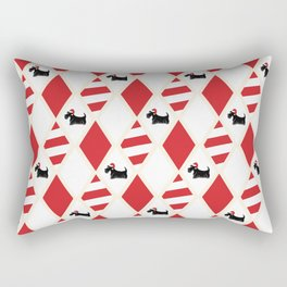Scottie Dog Christmas Pattern Rectangular Pillow