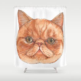 Betty aka The Snappy Cat- artist Ellie Hoult Shower Curtain