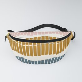 Geometric Piano Keys Fanny Pack