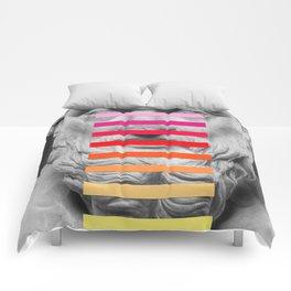 Sculpture With A Spectrum 2 Comforters