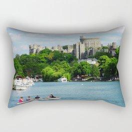 Windsor Castle from the River Thames Rectangular Pillow