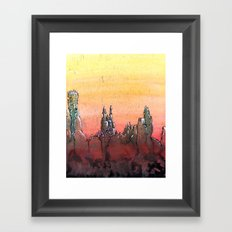 Mountain Stronghold Framed Art Print
