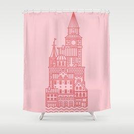 Copenhagen (Cities series) Shower Curtain