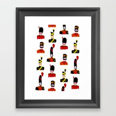 Moustache Soldiers Framed Art Print