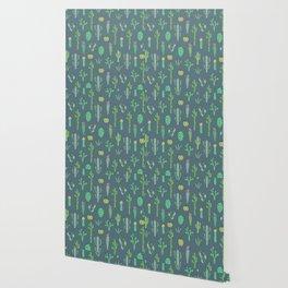 Cactus Pattern II Wallpaper
