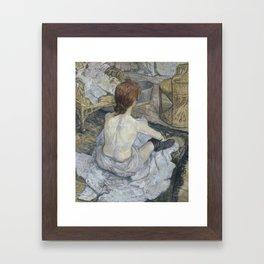 Henri de Toulouse-Lautrec - Rousse Framed Art Print