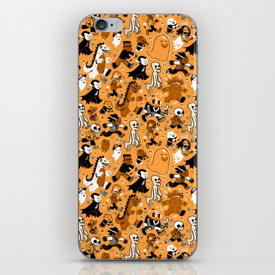 Monster March (Orange) iPhone & iPod Skin