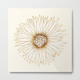 Gold Sunflower Metal Print