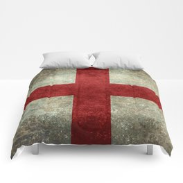 Flag of England (St. George's Cross) - Vintage version to scale Comforters