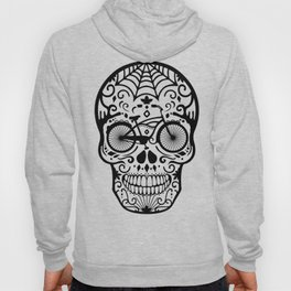 Vintage Mexican Skull with Bicycle - black and white Hoody