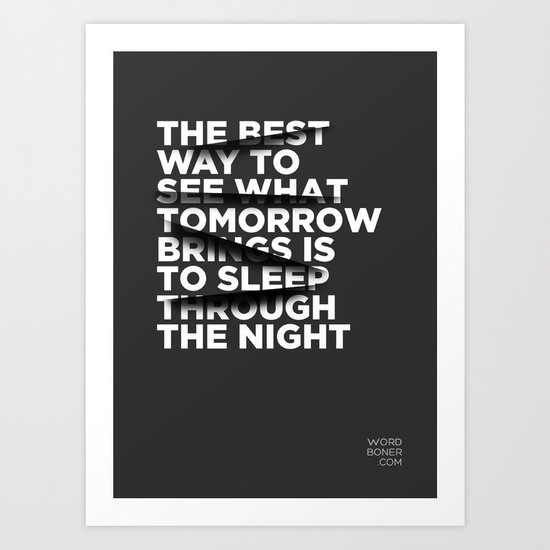 Sleep Through The Night Art Print