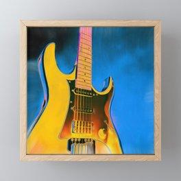 Guitar Painting, Pop Art Rock and Roll Framed Mini Art Print