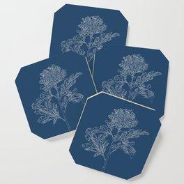 Chrysanthemum Blueprint Coaster