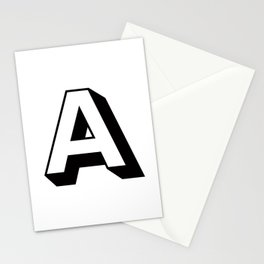 Letter A ... As Easy As... Stationery Cards