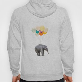 Dreaming Elephant Flying, Animal Zoo Nursery Photo, Large Printable Birthday Party Wall Art Hoody