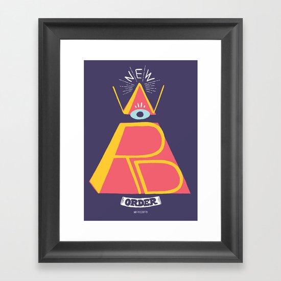 New Word Order! Framed Art Print