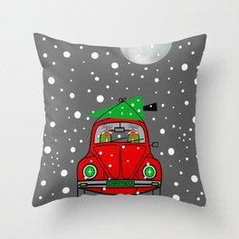 Santa Lane - Merry Christmas Throw Pillow