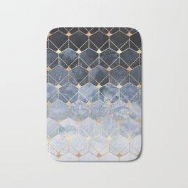 Blue Hexagons And Diamonds Bath Mat