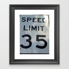 Speed 35 Framed Art Print