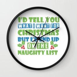 Sexy Mistletoe Christmas Single cheeky gift Wall Clock
