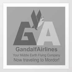 Gandalf Airlines Art Print