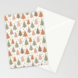 Boho Christmas Trees Stationery Cards