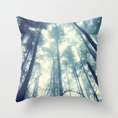 Fir and Fog Photograph Throw Pillow