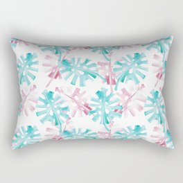 PINK AND GREEN PALM LEAFS - TROPICO Rectangular Pillow