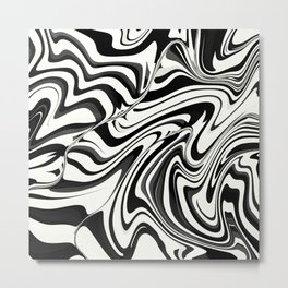 SUBCULTURE black and white mod design Metal Print