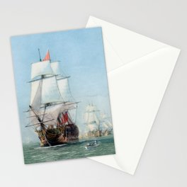 First Journey Of The HMS Victory Stationery Cards