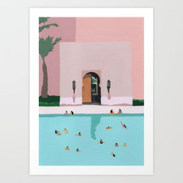 Middle Eastern Swims Art Print