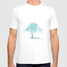 Blue tree MEDIUM White Mens Fitted Tee